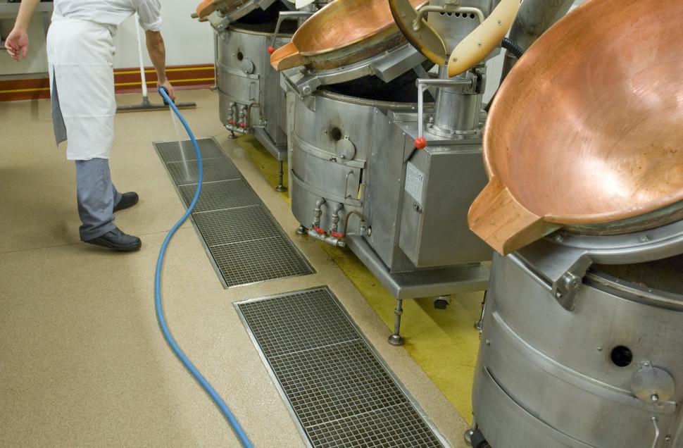 Revêtement de sol pour l'agro alimentaire