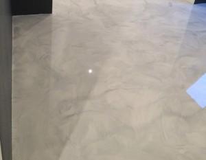 Sol en marbre résine